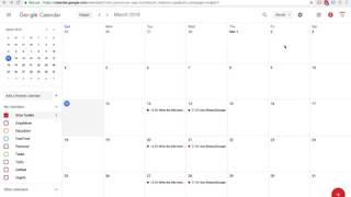 Google Sayfaları kullanarak Google Takvim Olayları oluşturmak