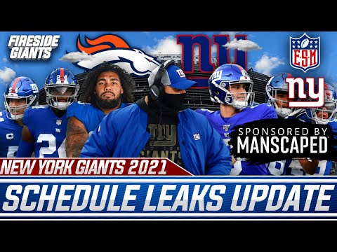 New York Giants Leaked Almost ENTIRE 2021 Regular Season Schedule