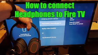 How to connect Bluetooth Wireless Headphones to Fire TV / Fire TV stick No audio delay