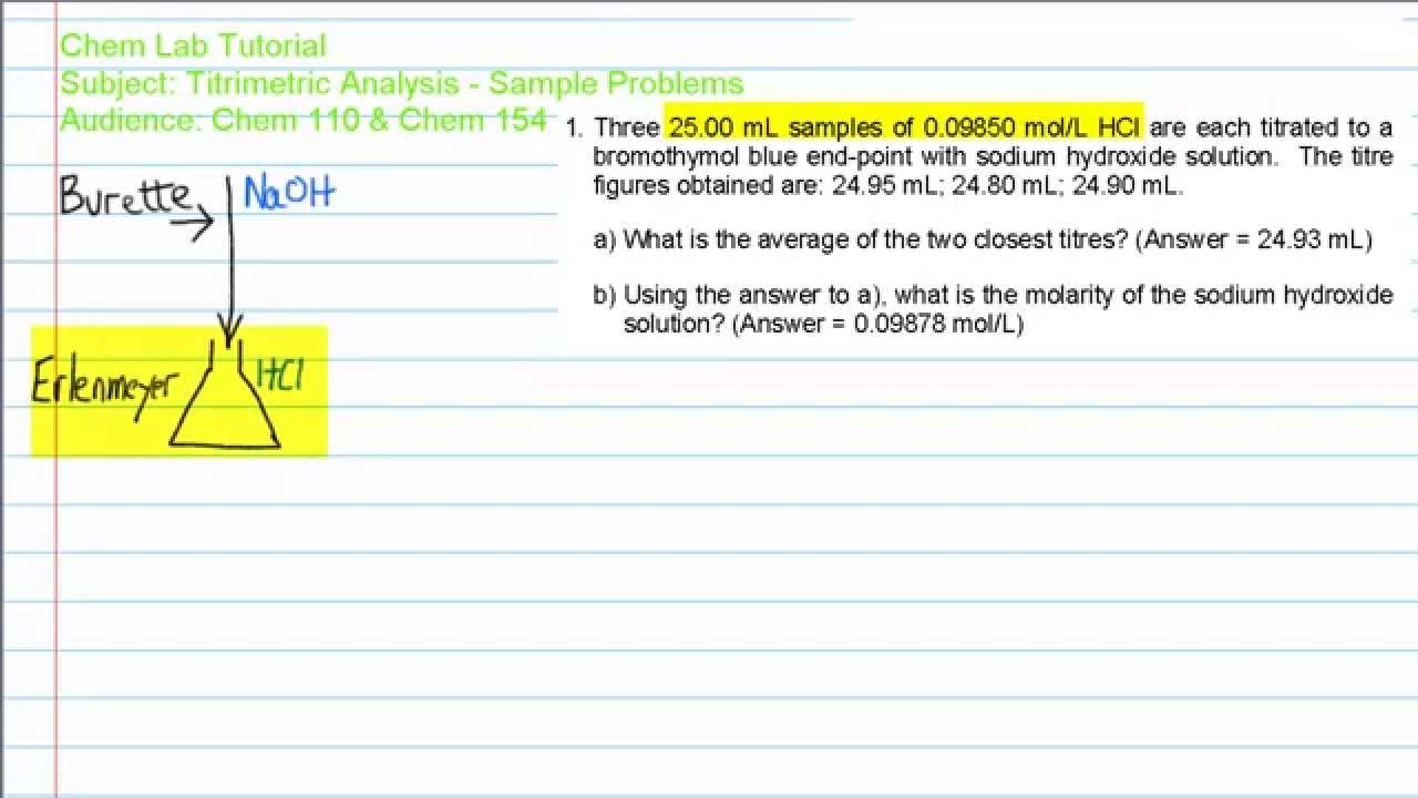 antacid analysis and titration answers