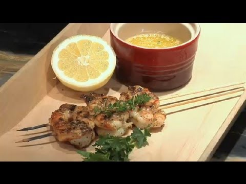 Grilled Prawns With Garlic & Butter : Grilled Shrimp Recipes