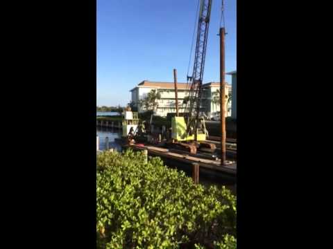 Dock builders! Sea wall construction! Barge in Naples Flori