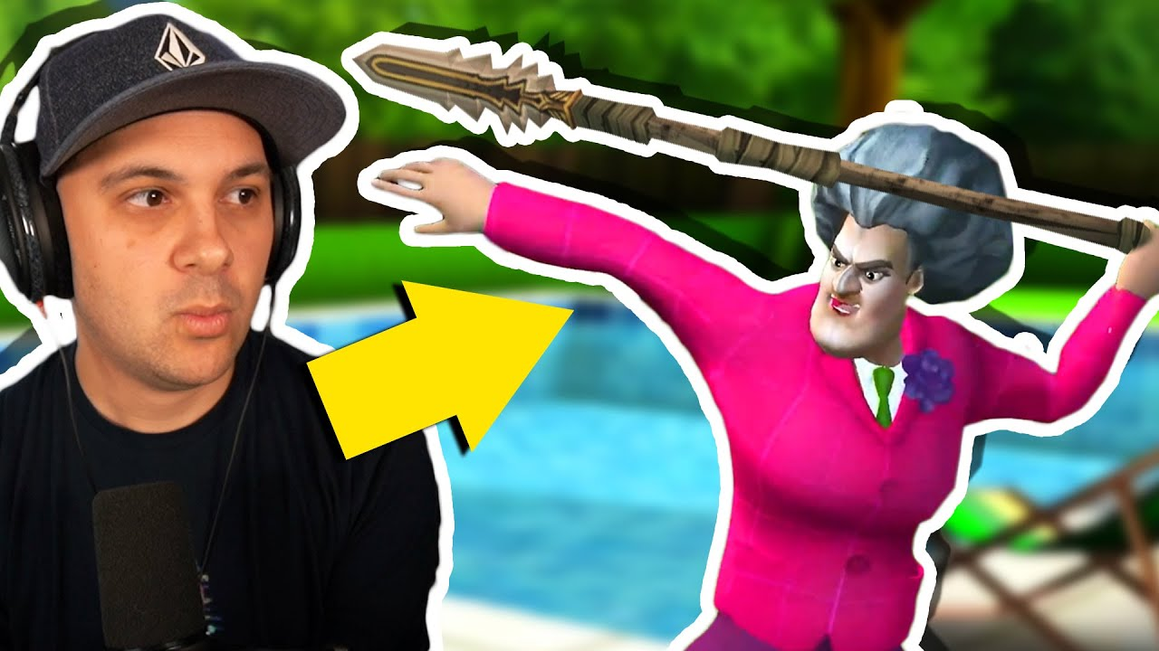 Download Miss T HAS A SPEAR!! (and I'm terrified...) | Scary Teacher 3D