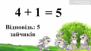 Урок 51. Математика 1 клас. Складання та роз'язування задач за малюнками