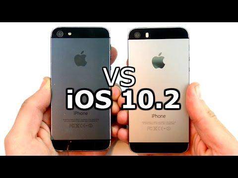 iPhone 5 vs iPhone 5S iOS 10.2