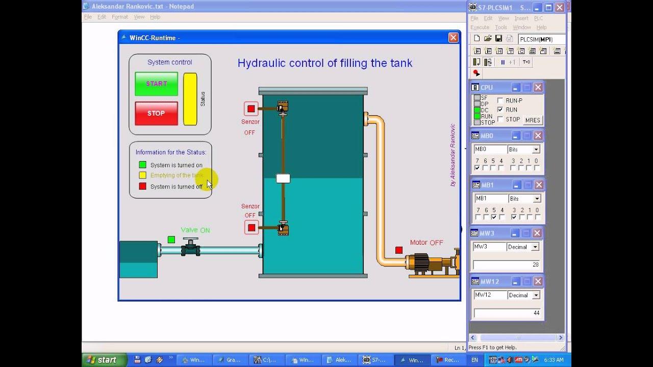 Wincc And Tia Portal Hydraulic Control Of Filling The