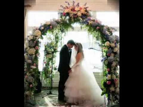 Simple Wedding arch decorating ideas - YouTube