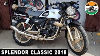 Hero Splendor Modified Into Classic Model | 2018 | kamal Auto Nikhar