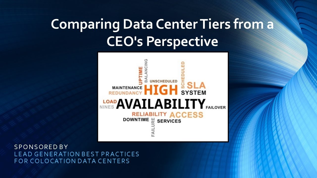 Comparing Data Center Tiers from a CEO's Perspective (Screencast)