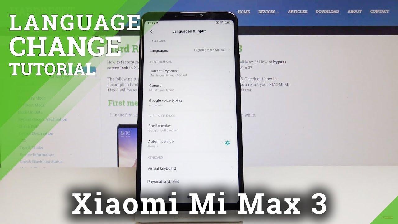 How to Change Language in Xiaomi Mi Max 3 - Update the Region
