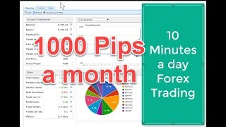 Multidimensional Forex Channel trading chart setup on MT4 used to produce 1000 pips a month