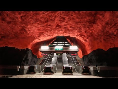 TOP 10 THE MOST BEAUTIFUL STOCKHOLM SUBWAY STATIONS.