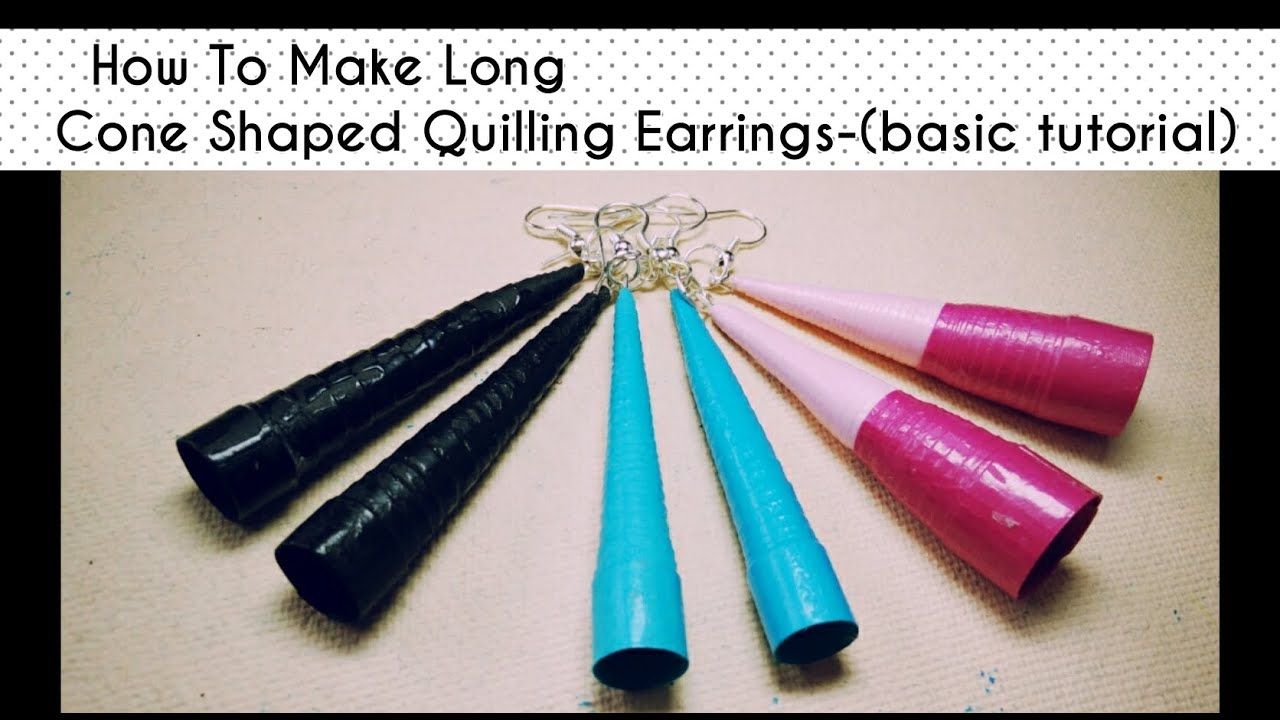 HOW TO MAKE LONG CONED SHAPED QUILLING EARRINGS. - YouTube for How To Make Quilling Shapes  110zmd