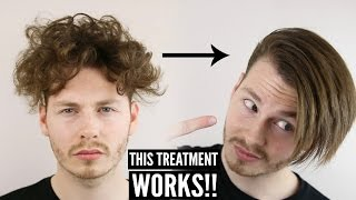 Keratin Hair Treatment - Mens Curly Hair Transformation + How To Style 2017