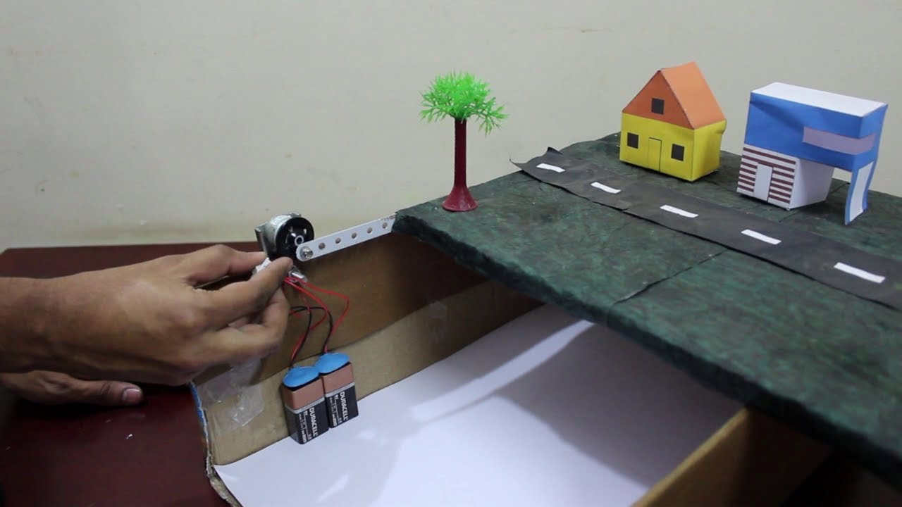 how to make earthquake model school project youtube