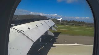 (HD) Lufthansa Airbus A380 ( Wing View - Economy Class) Frankfurt Airport to Los Angeles