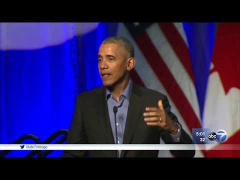 President Obama addresses mayors at climate change summit