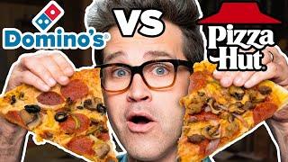Dominos vs. Pizza Hut Taste Test   FOOD FEUDS