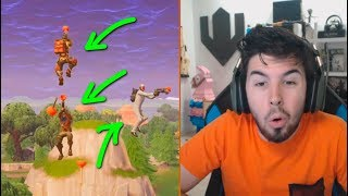 😱 GANCHO VS GANCHO en FORTNITE!! Reaccionando