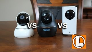 Wyze Cam Pan vs Yi Dome 1080p vs Reolink C1 Pro - Comparing PTZ WiFi Security Cameras