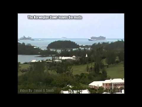 Time Lapse Of Norwegian Dawn Leaving Bermuda, May 20 2015