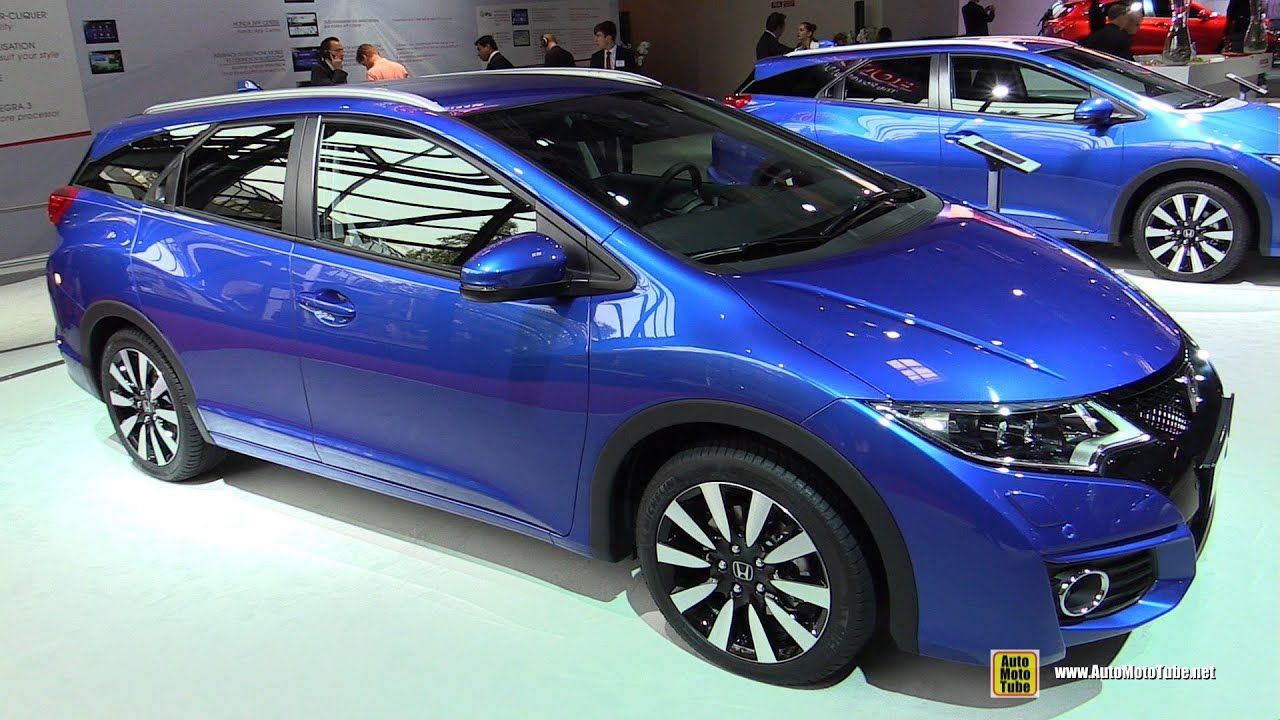 2015 Honda Civic Tourer Diesel - Exterior and Interior Walkaround ...