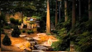 Landscaping design for steep slope