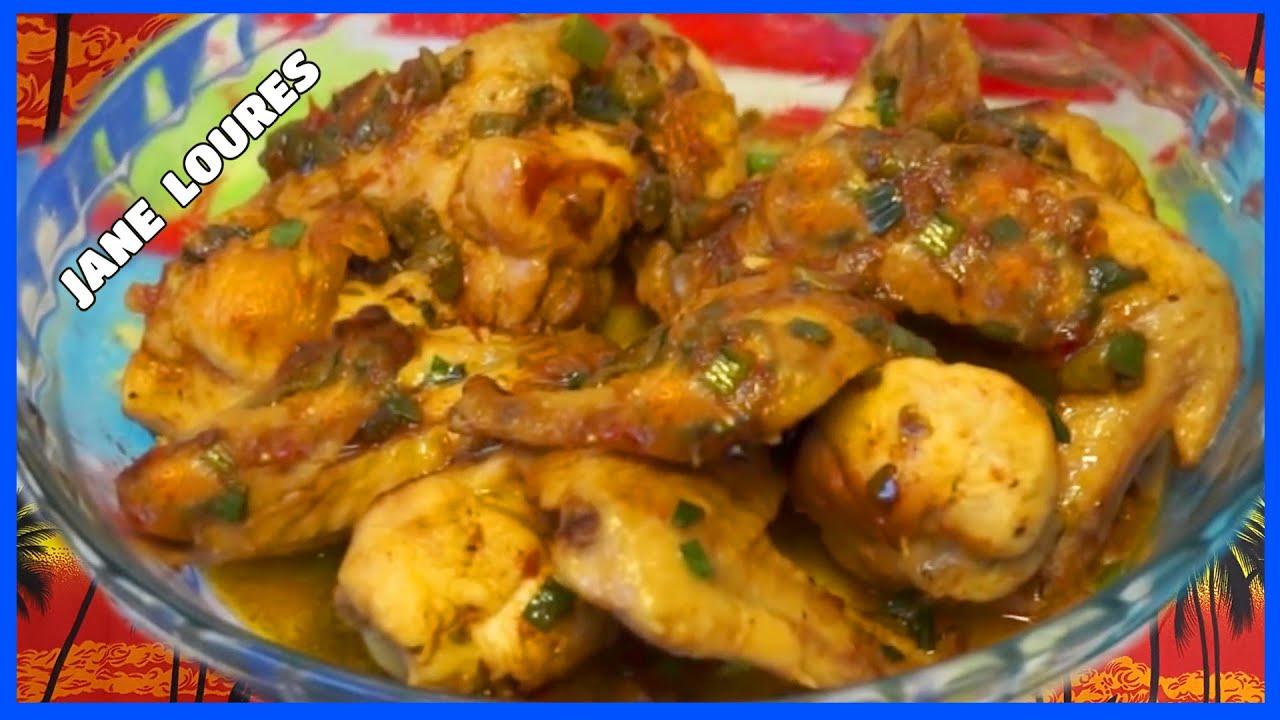 Asa de frango cozida na panela comum. Receita simples,prática e deliciosa