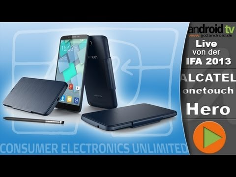 [GER] ALCATEL onetouch Hero - IFA 2013 - android tv