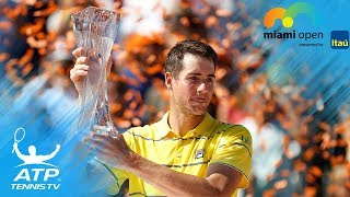 John Isner beats Zverev to win first Masters 1000 title! | Miami Open 2018 Final Highlights
