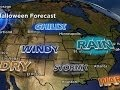 watch he video of Halloween weather forecast sees wind and rain in central U.S.