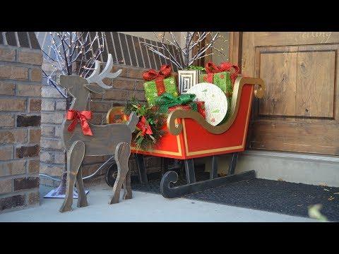 Wood Reindeer Christmas Decoration