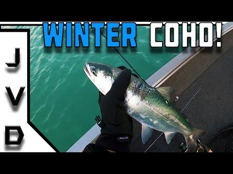 Winter COHO SALMON Fishing On Lake Michigan! | Northwest Indiana Fishing!