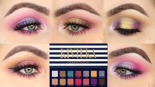 5 LOOKS 1 PALETTE | FIVE EYE LOOKS WITH THE RIVIERA PALETTE  BY ANASTASIA (ABH)  |Patty