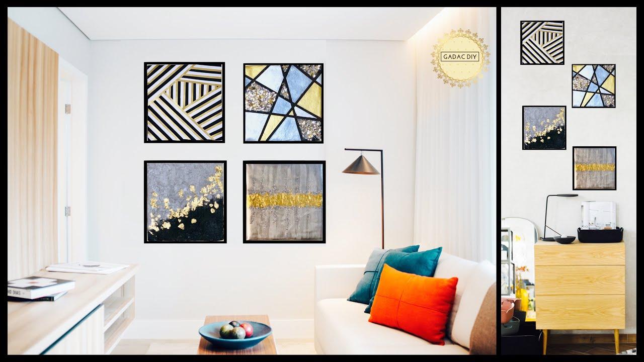 4 Ultra Easy Glam & Glittery Wall Decor Ideas| Create Your Unique Wall Art|gadac diy| DIY Room Decor