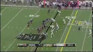 E.J. Scott - Virginia Football - WR - 2012 Georgia Tech Game