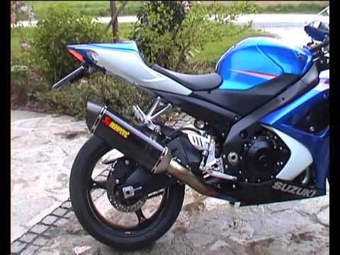 Suzuki Gsx R 1000 K7 With Akrapovic Full Titan Evo 2