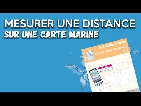 Mesurer une distance sur une carte marine