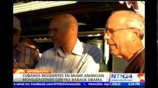 Exilio cubano en Miami anuncia movilizaciones por restablecimiento de relaciones con Cuba