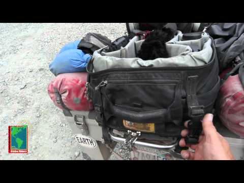 Camera Back Pack on motorcycle
