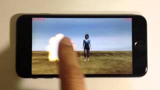iPhoneアプリです。タレントの寺田有希さんの3Dデータを使ったゾンビも...
