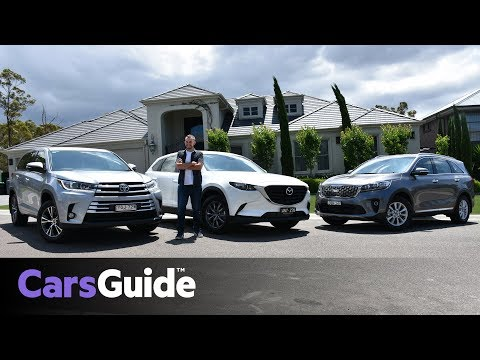 Mazda CX 9 vs Toyota Kluger vs Kia Sorento 2018 review