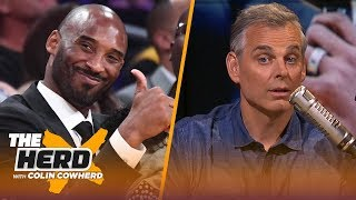 Colin Cowherd believes Kobe is the perfect fit to replace Magic as Lakers president | NBA | THE HERD