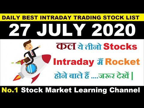 Best Intraday Trading Stocks for Tomorrow 27 JULY 2020|Intraday trading strategies|StockMarketHacks|