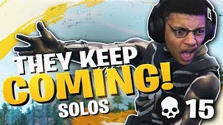 THEY JUST KEEP COMING! EXCITING 15 KILL SOLO (Fortnite BR Full Match)