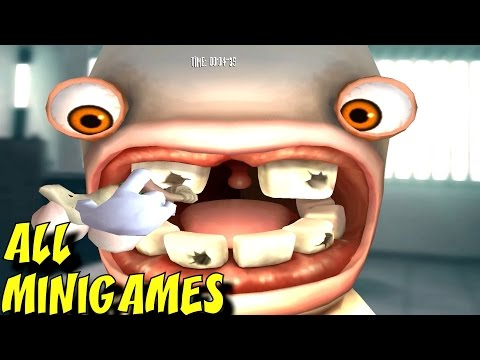 Rayman Raving Rabbids - ALL Minigames (1080p/60fps)