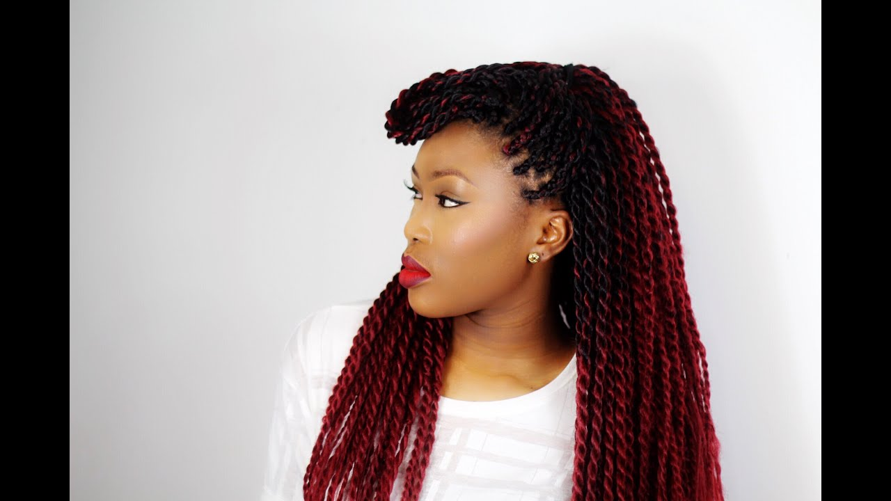 Hair Inspiration Red Senegalese Twists Youtube