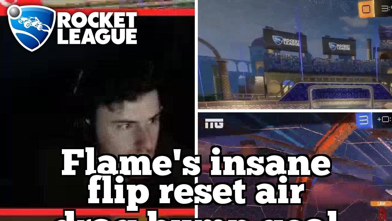 Daily Rocket League Plays: Flame's insane flip reset air drag bump goal