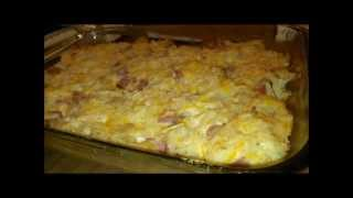 Cheesy Ham and Hash Brown Casserole (Pintober)