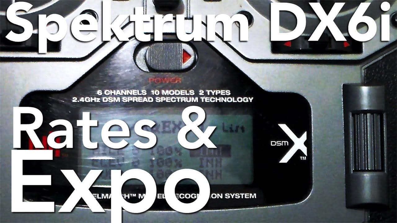 Spektrum DX6i  Setting Rates & Expo